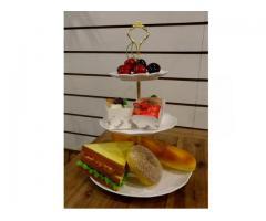 英式三層點心盤-白(粉嫩.貴婦.下午茶..英式宮廷.蕾絲.陶瓷.蛋糕架.與宜家家居IKEA風格相似)