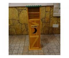 鄉村風紙巾收納架911-XW010(屋頂.廁所.廚房.木製.儲物櫃.紙巾盒)