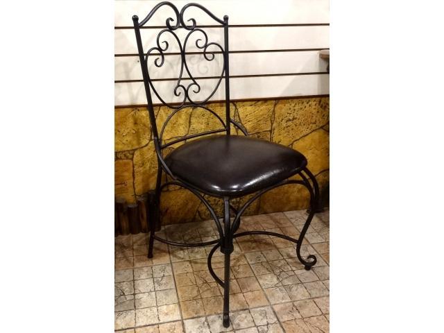 Bunny House~軟墊鍛鐵椅子90622000588(星巴克椅.咖啡廳椅.餐廳椅.美式工業.電腦椅.辦公椅)