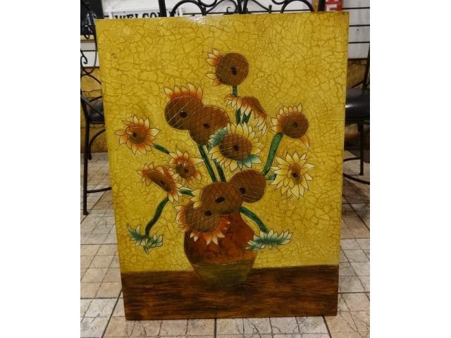 Bunny House~太陽花掛畫111-WB057(畫廊藝術中心.現代走廊畫.風水畫.套房裝飾.民宿佈置)